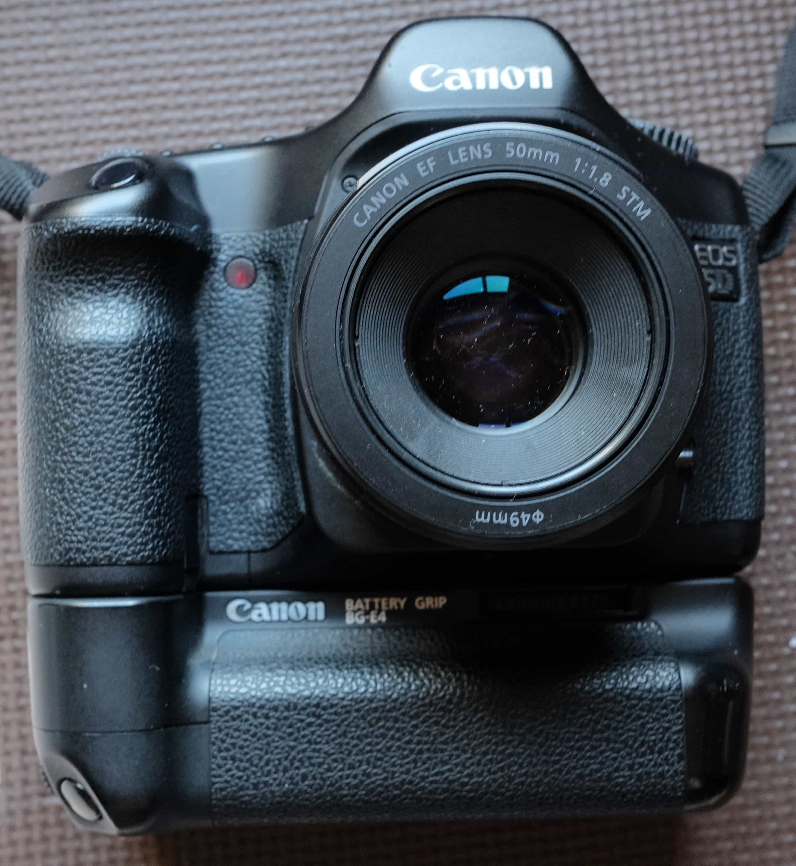 battery grip with EOS 5D